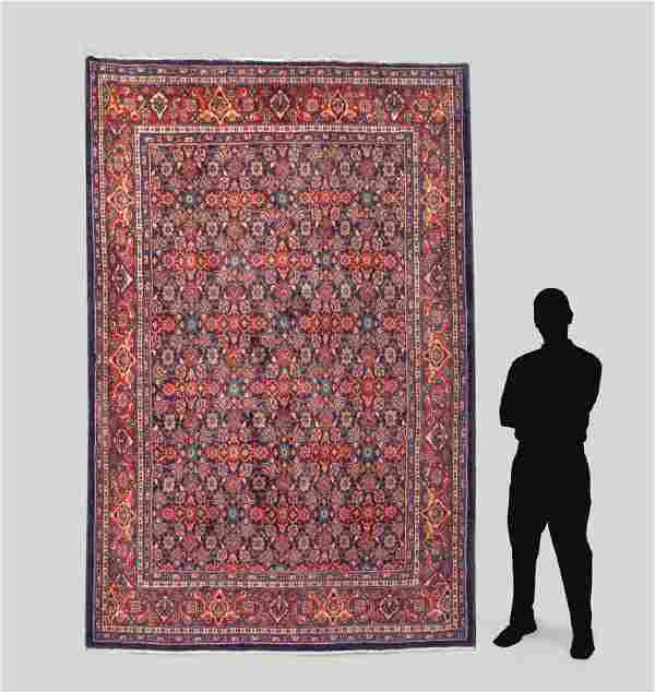 """PERSIAN HAND KNOTTED WOOL RUG, 7' x 10'3"""""""
