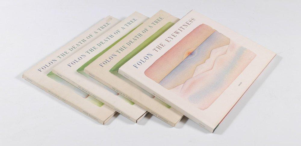 4 JEAN-MICHEL FOLON BOOKS 2 W/ MAX ERNST LITHO
