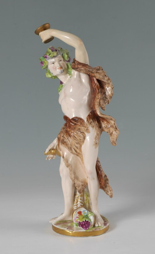 EARLY 20C FRENCH PORCELAIN FIGURE OF BACCHUS