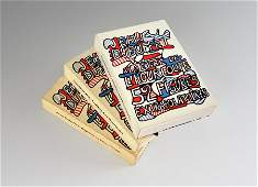 3 SETS JEAN DUBUFFET 52 FIGURES PLAYING CARDS