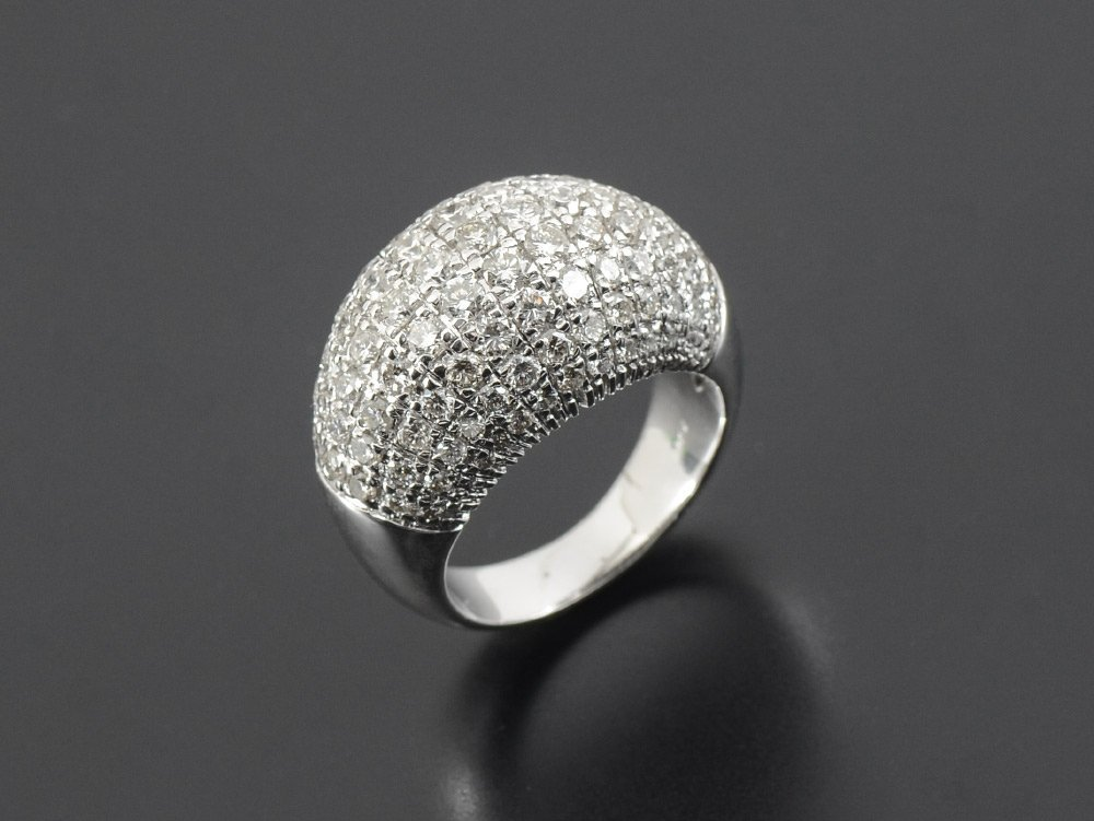 SPARKLING 18K & DIAMOND DOME RING