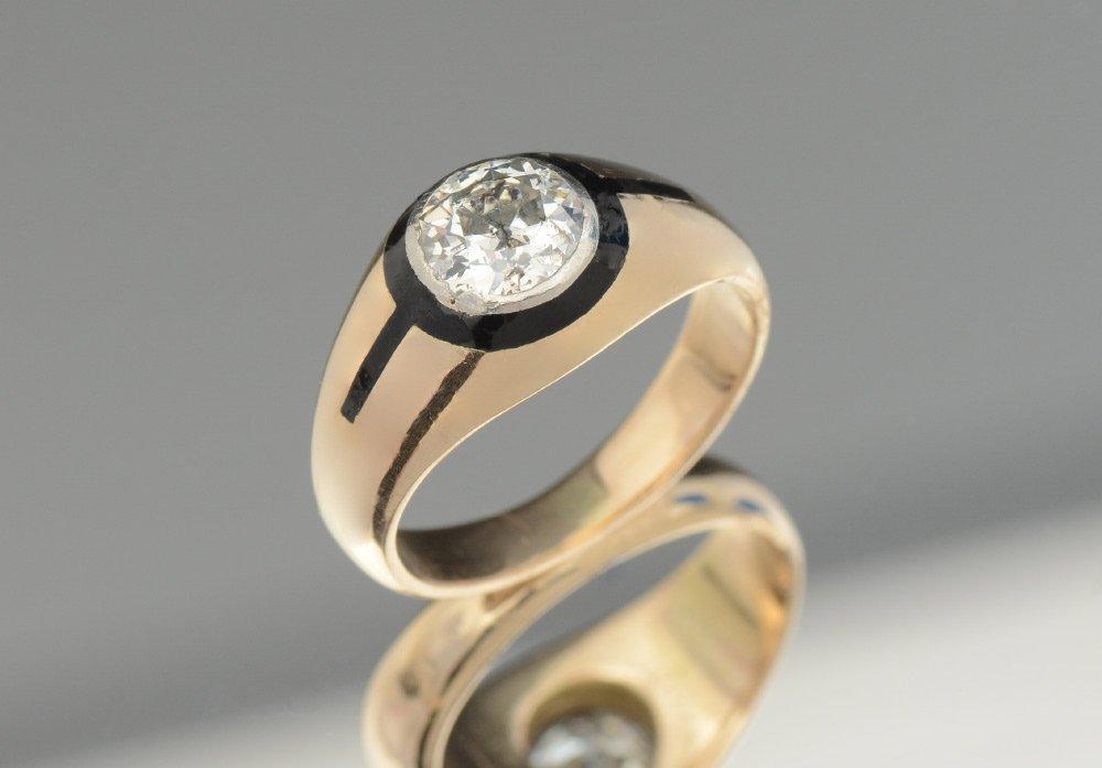 DISTINCTIVE GOLD & PLATINUM DIAMOND ARTDECO GENTLE