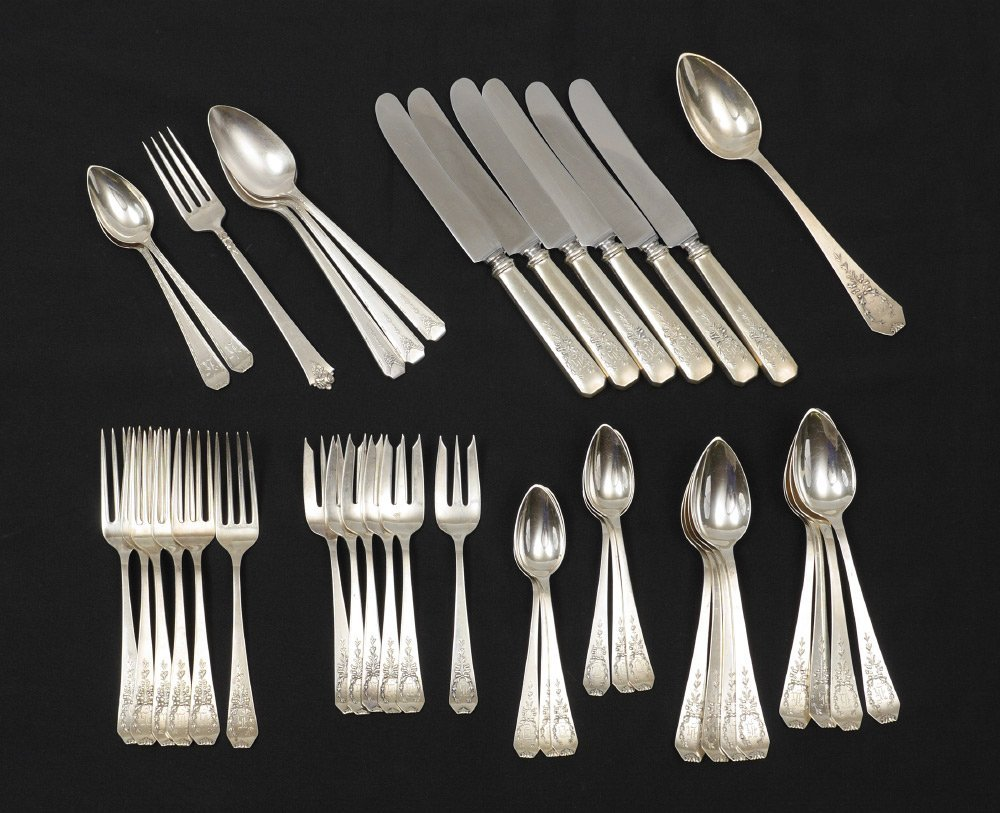 WHITING MADAM JUMEL STERLING FLATWARE