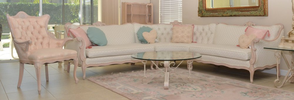 HOLLYWOOD REGENCY FRENCH PROVINCIAL STYLE SECTIONA