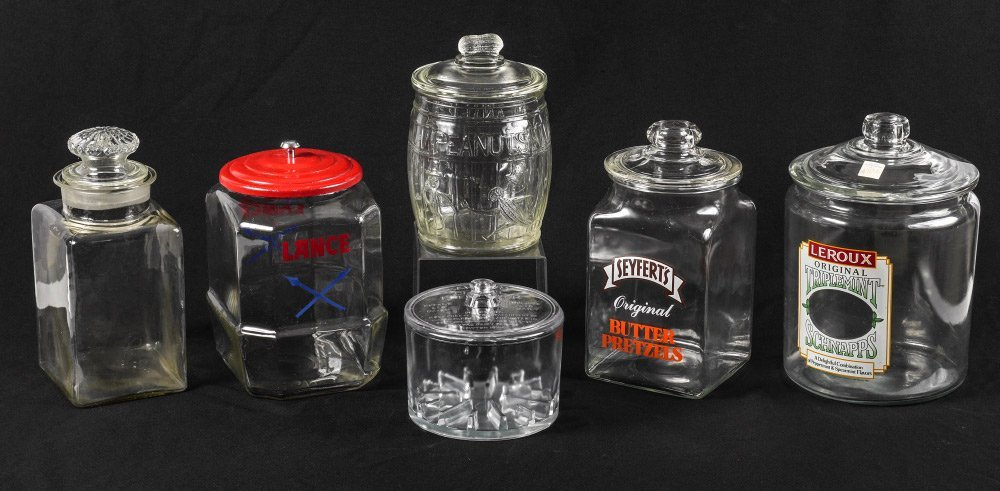 COLLECTION OF VINTAGE COUNTRY STORE JARS