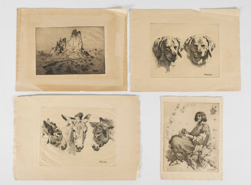 4 WR LEIGH ETCHINGS