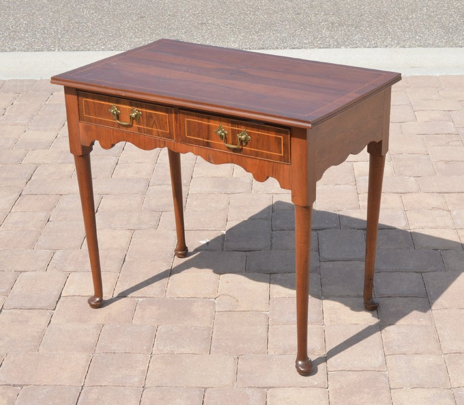 QUEEN ANNE STYLE 2 DRAWER WORK TABLE