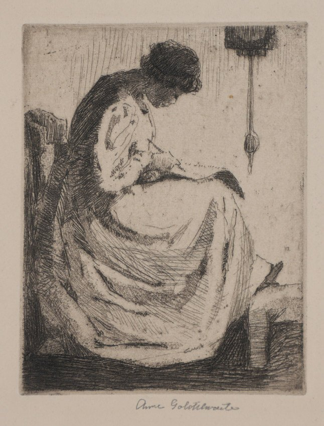 ANNE GOLDTHWAITE ETCHING