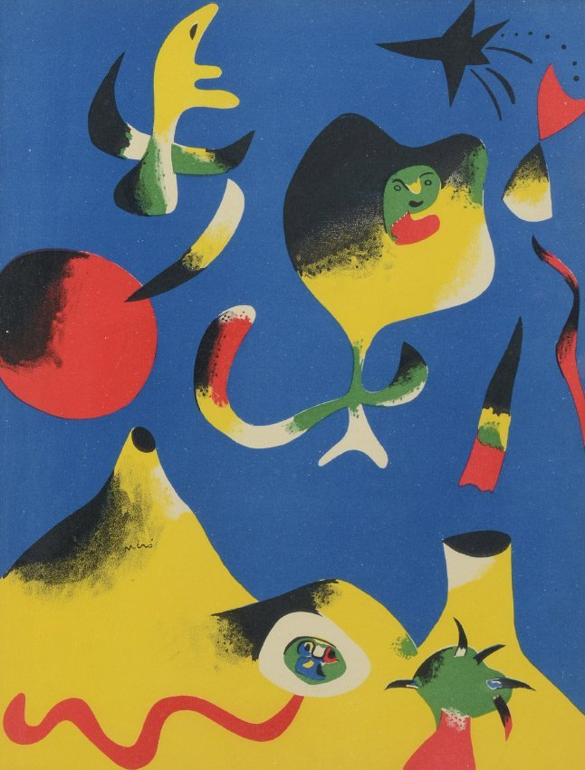 JOAN MIRO LITHOGRAPH FOR VERVE