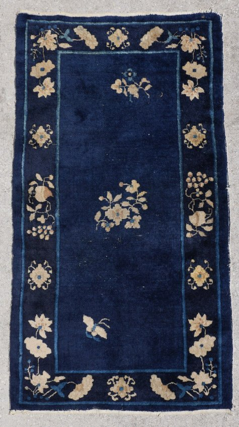 SEMI-ANTIQUE CHINESE HK WOOL RUG 2'6'' X 4'10''