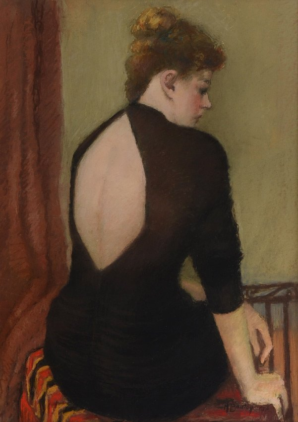 MARCIA BOUTON PASTEL YOUNG BEAUTY IN BLACK DRESS