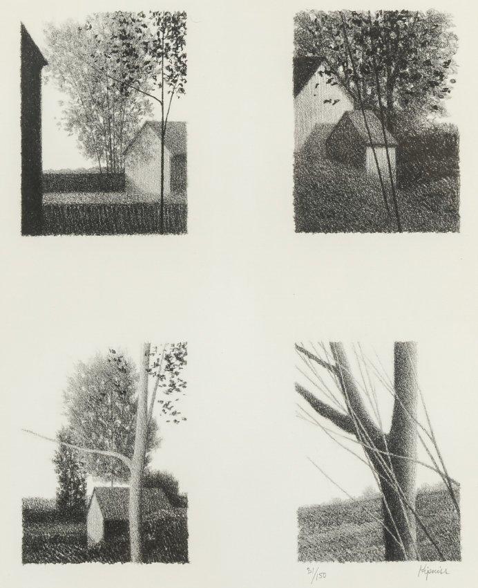 4 ROBERT KIPNISS LITHOGRAPHS