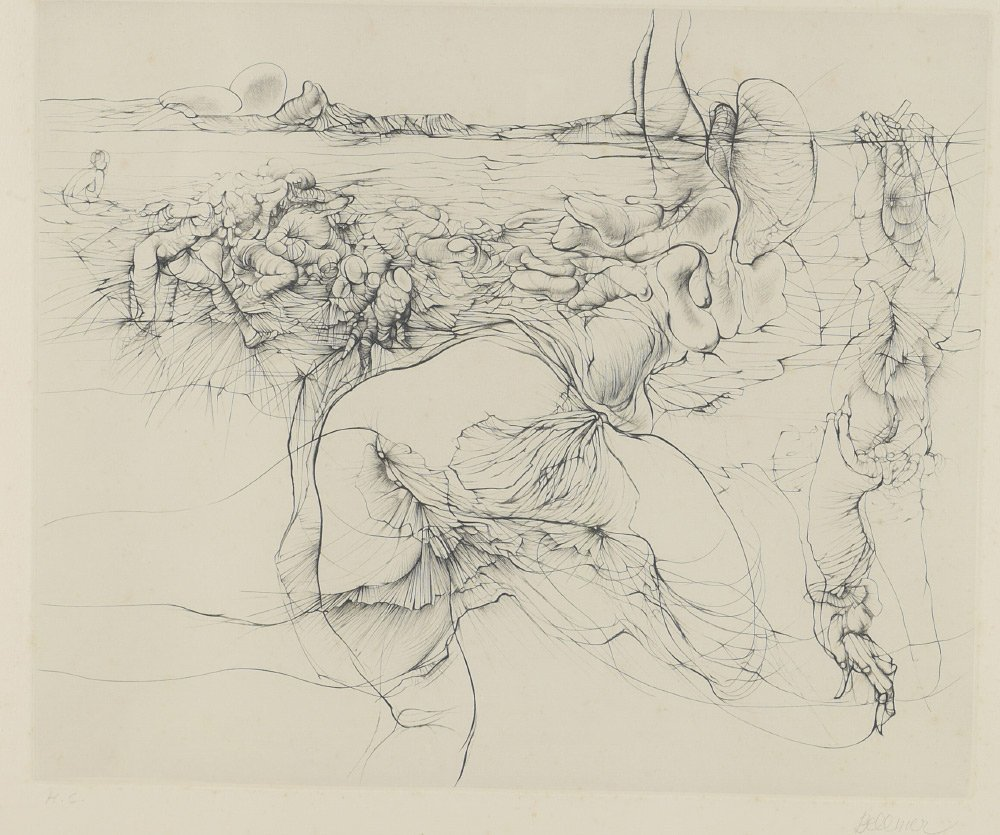 HANS BELLMER H.C. SURREAL ETCHING