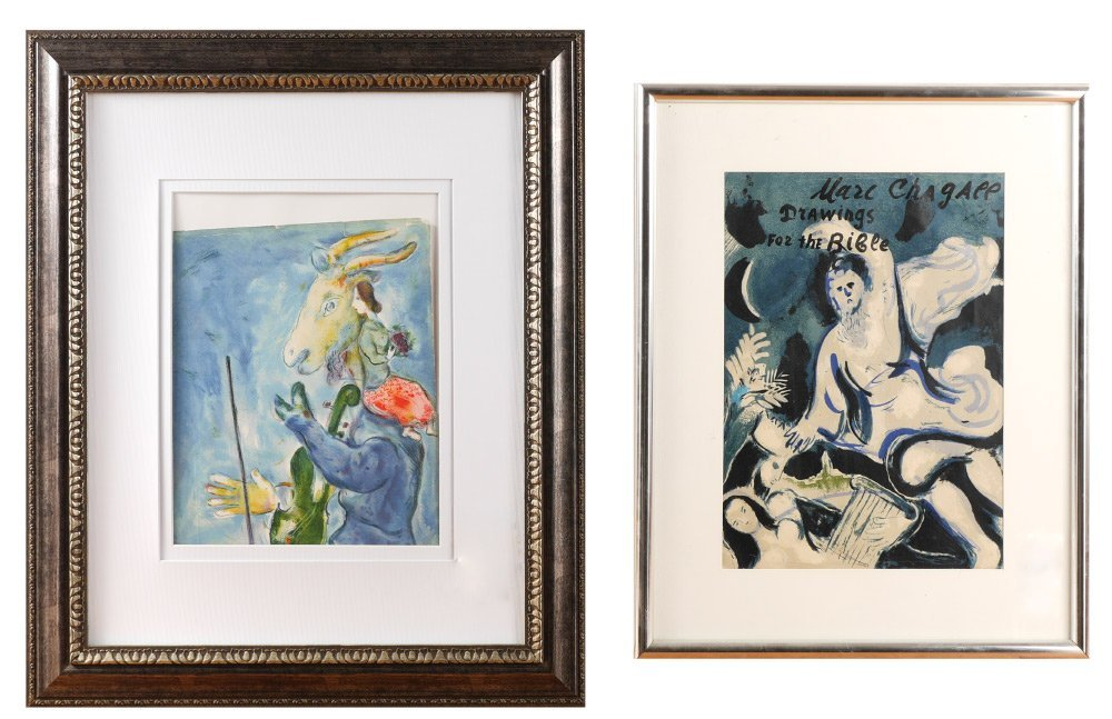 2 MARC CHAGALL LITHOGRAPHS FOR VERVE