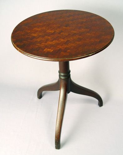 6: KITTINGER GAINSBOROUGH PARQUETRY TOP CANDLE STAND