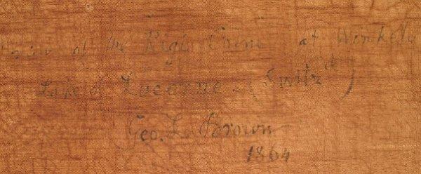 122: GEORGE LORING BROWN PAINTING LAKE COMO - 5