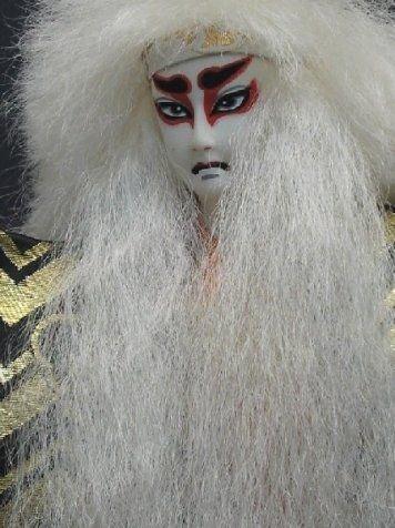 298: JAPANESE SHISHI WHITE LION DANCE DOLL - 3