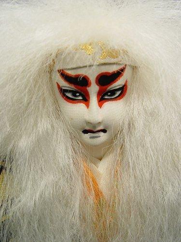 298: JAPANESE SHISHI WHITE LION DANCE DOLL - 4