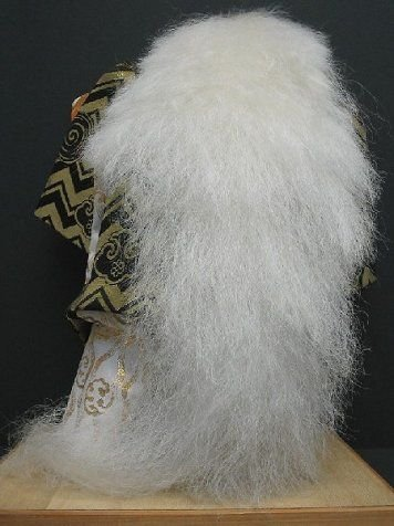 298: JAPANESE SHISHI WHITE LION DANCE DOLL - 5