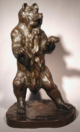 1: GOOD QUALITY BRONZE BEAR BRONZE SCULPTURE