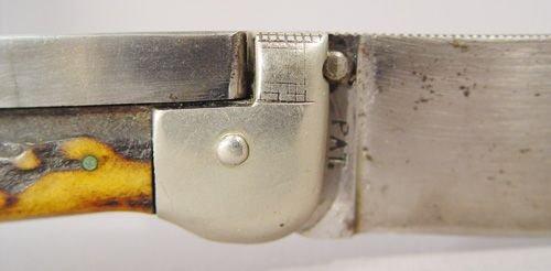 480: LARGE KA-BAR GRIZZLY TYPE PRESS BUTTON KNIFE    - 2