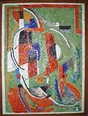 1036: LASZLO BARTA HUNGARIAN ABSTRACT MOSAIC PANEL