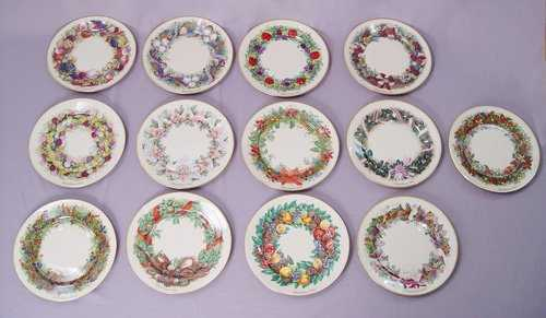 1466 the 13 colonies lenox christmas plates colony