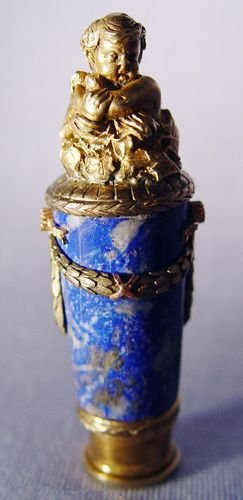 1015A: FABERGE LAPIS LAZULI DIAMOND AND SILVER SEAL
