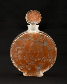 R. LALIQUE VOLNAY CHYPRE AMBRE PERFUME BOTTLE