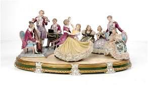 SITZENDORF MULTI-FIGURAL PORCELAIN GROUPING KINGS
