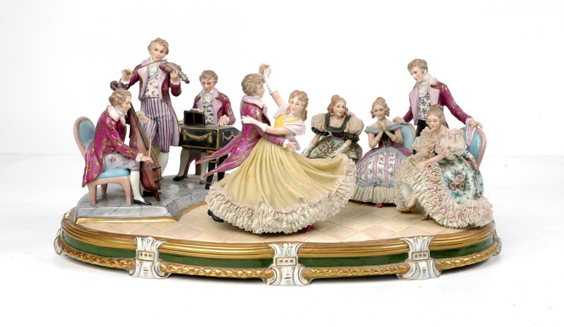 SITZENDORF MULTI-FIGURAL PORCELAIN GROUPING KINGS
