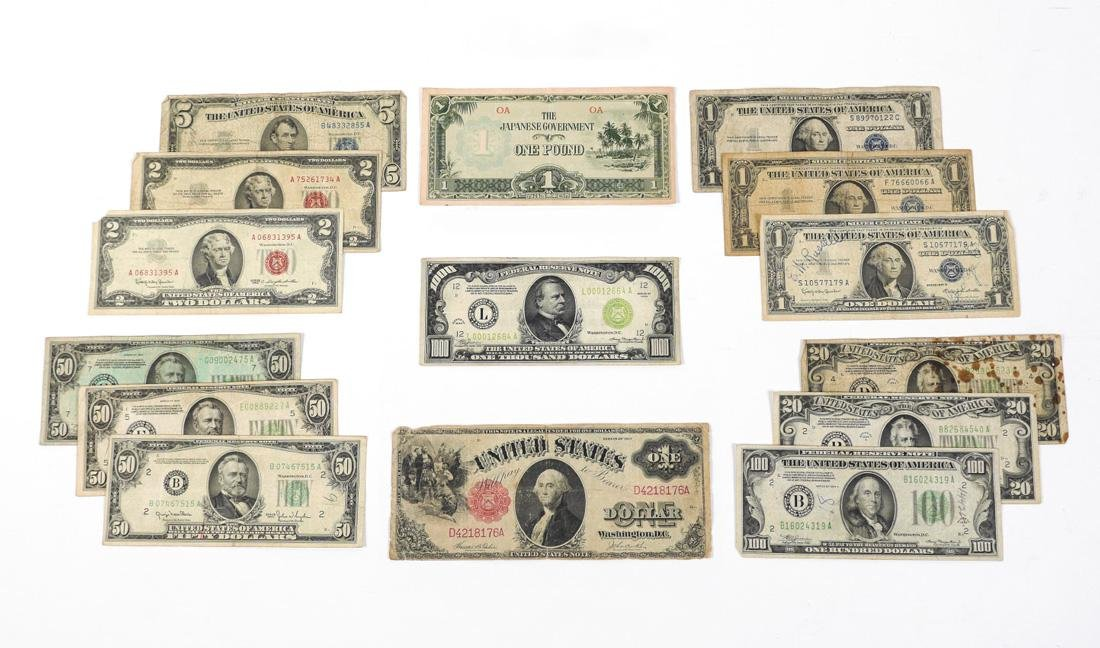1934 US $1000 BILL & MORE PAPER CURRENCY