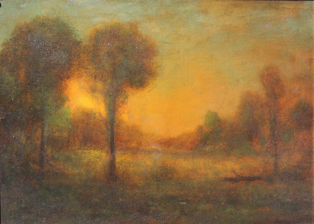"GEORGE INNESS ""EARLY MORNING PAINTING"" EXHIBITED"