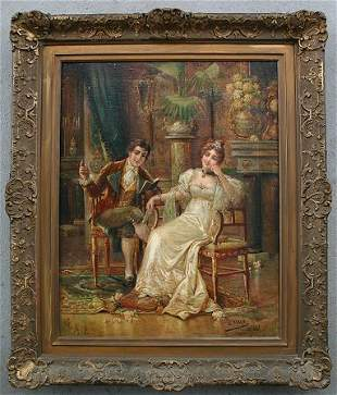 19TH CENTURY GENRE PAINTING SIGNED MALY