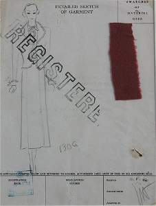 1288: COLLECT OF 1930 AMERICAN ORIGINAL FASHION DESIGN