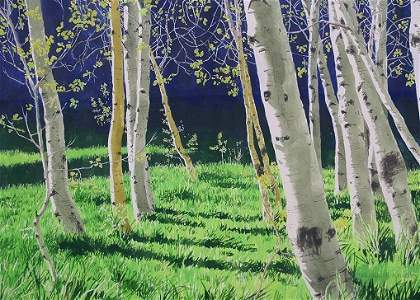 1437: WILL CALDWELL SUN VALLEY PAINTING