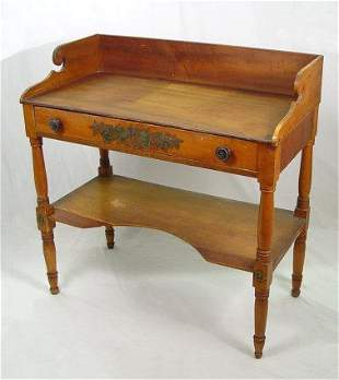 EARLY ONE DRAWER WASH STAND