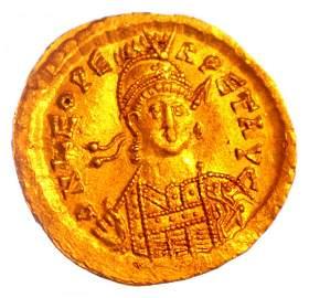 457-474 AD Leo I The Thracian AU GOLD Solidus Byzantine