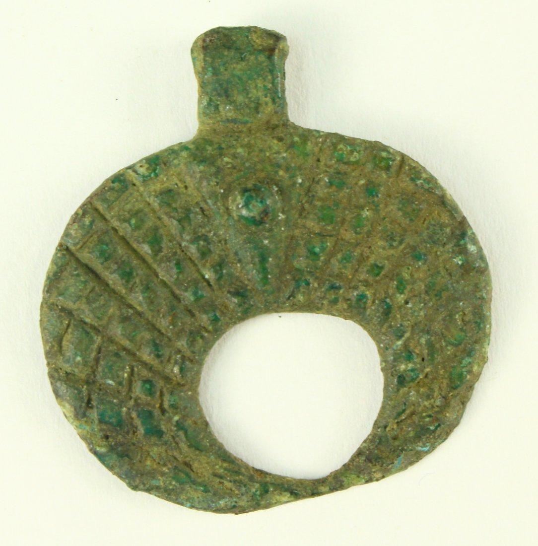 c.1000 A.D. Bronze VIKING Crescent Moon Lunar Pendant