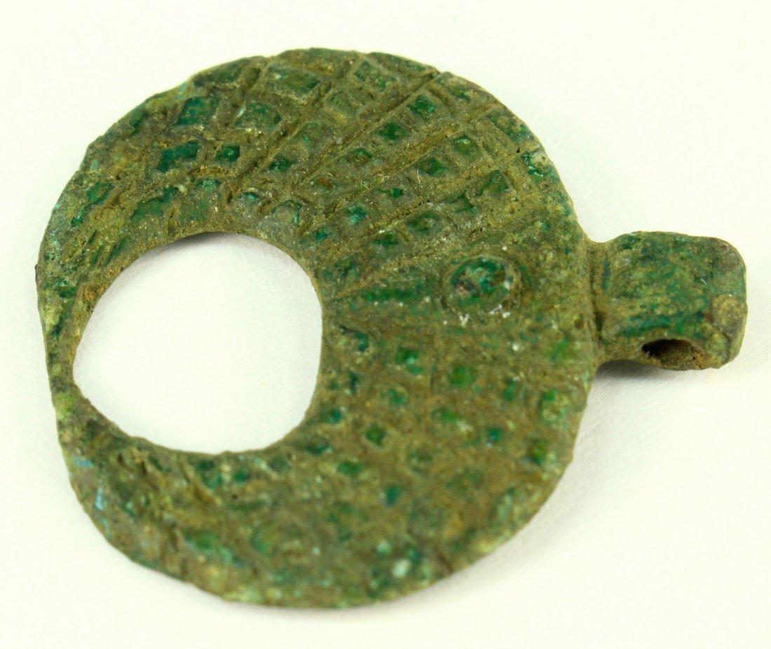 c.1000 A.D. Bronze VIKING Crescent Moon Lunar Pendant - 3