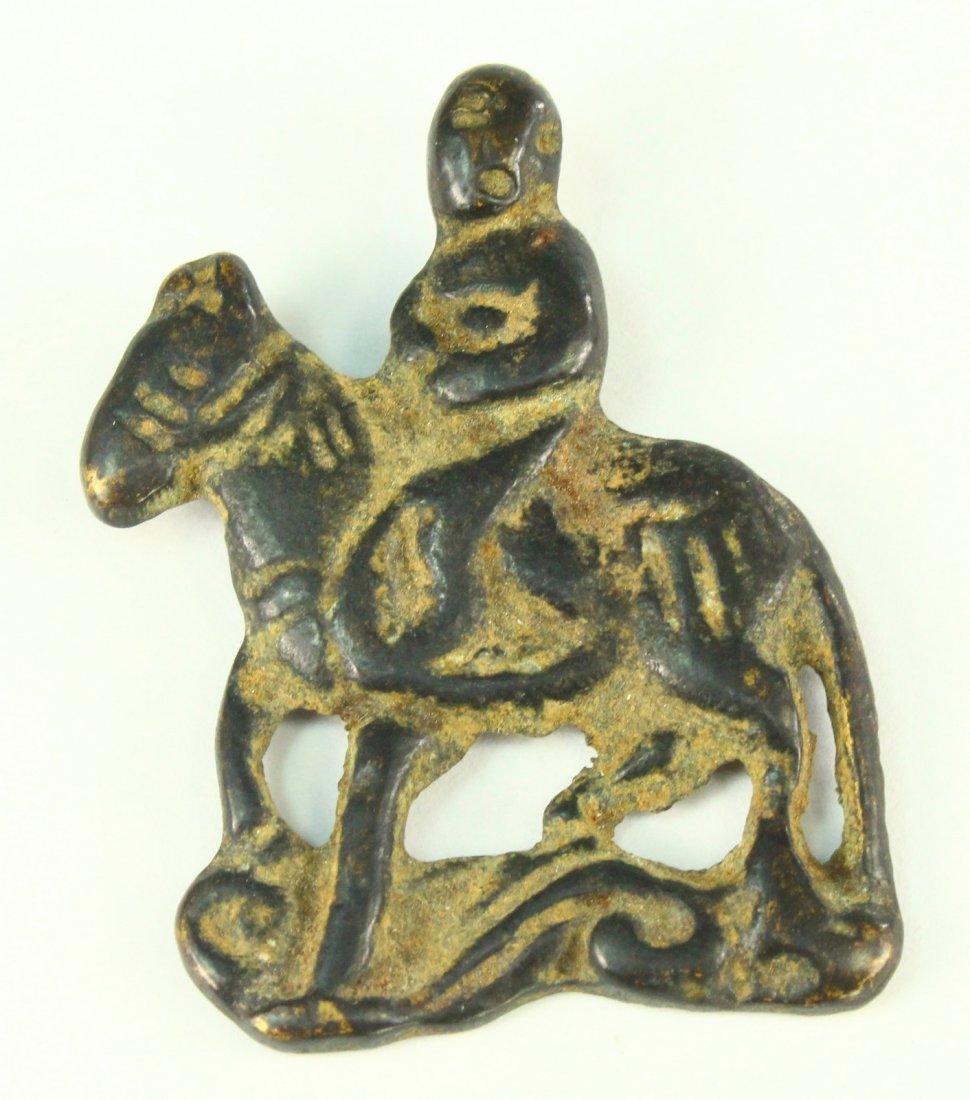 c.1050\'s A.D. Bronze VIKING Figure Amulet ODIN on