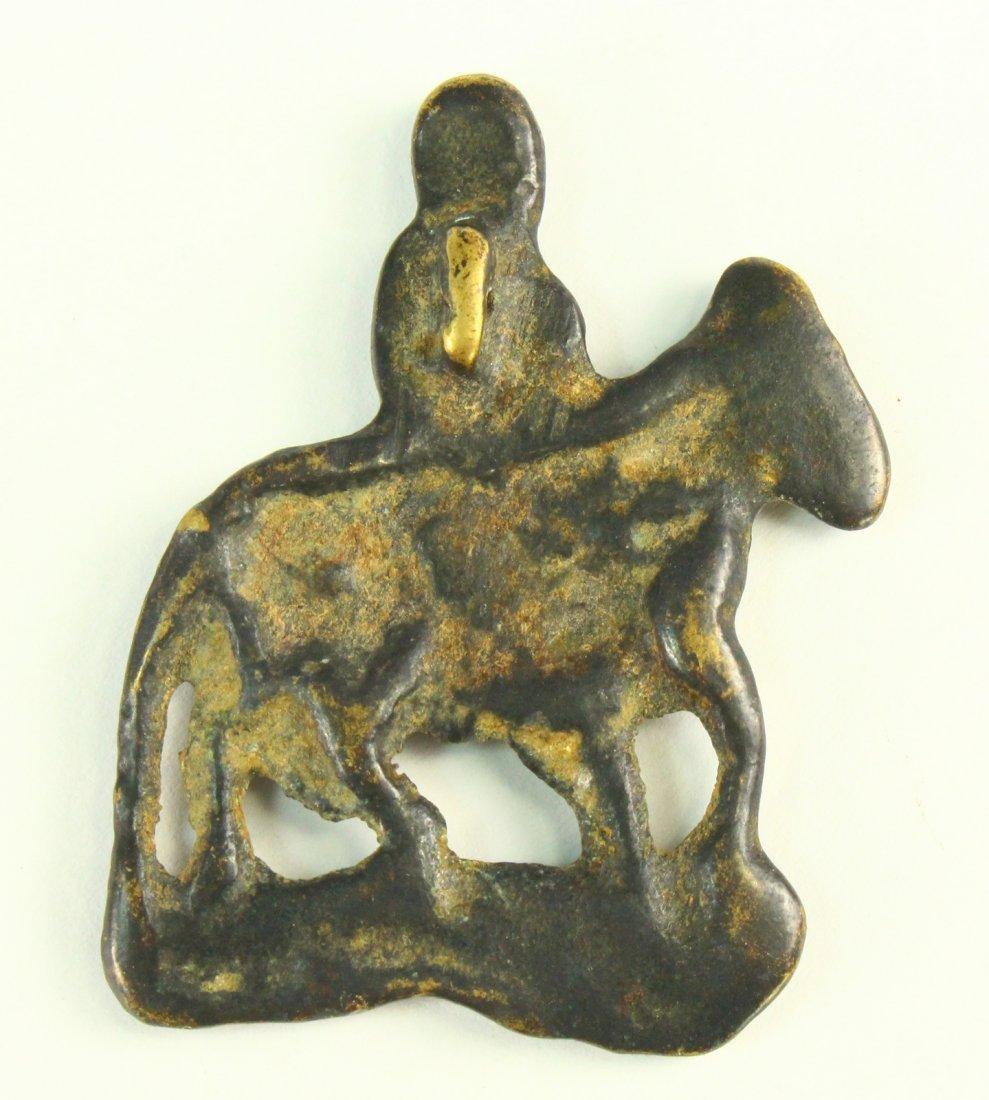 c.1050\'s A.D. Bronze VIKING Figure Amulet ODIN on - 5