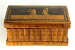 Antique Italian SORRENTO Ware Inlaid Walnut Box RICORDO