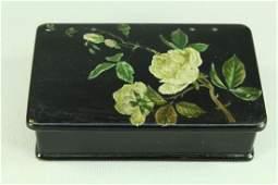 1843-1917 Imperial Russia Lacquered Papier Mache Box