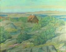 Scandinavian School (XIX-XXc.) Pastel Landscape