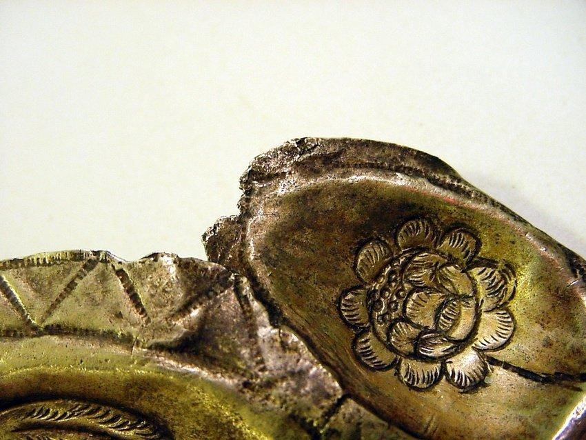 Antique Peruvian Silver/Copper & Glass Inca Tupu - 9