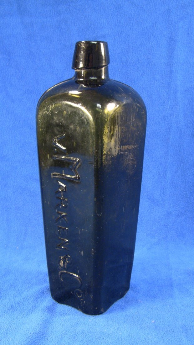 c.1800 VAN V. MARKEN & Co. Dutch Case Gin Bottle - 5