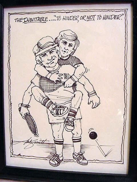 HAL SMITH Baseball, 3 Racquetball Ink Caricatures - 3