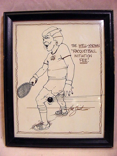 HAL SMITH Baseball, 3 Racquetball Ink Caricatures - 6