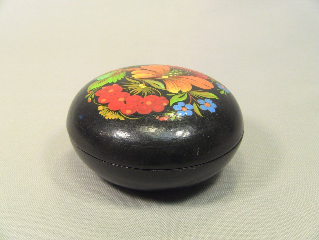 Vintage Russian Hand Painted Lacquered Box